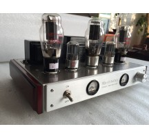 Old Buffalo 350C tube amplifier Class A hifi exquis Handmade scaffolding silver brushed stainless steel cable
