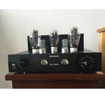OldBuffalo 300B signal-ended tube amplifier HIFI EXQUIS Black Aluminum chassis 4-way lamp Amp